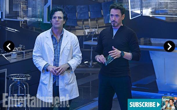 Bruce Banner a Tony Stark