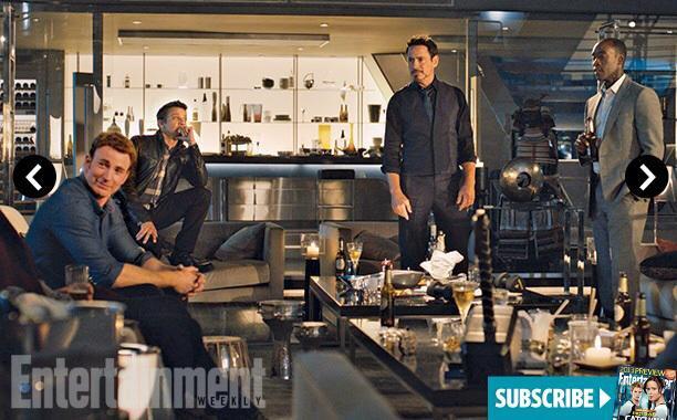 Celá partia v Stark Tower