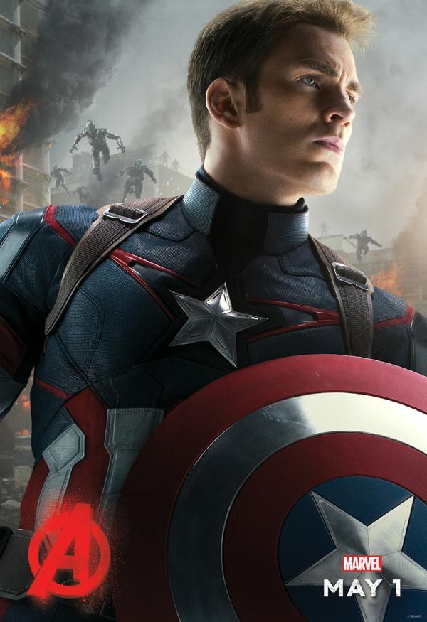 Avengers-2-Age-of-Ultron-Captain-America-Chris-Evans-social-media-Poster