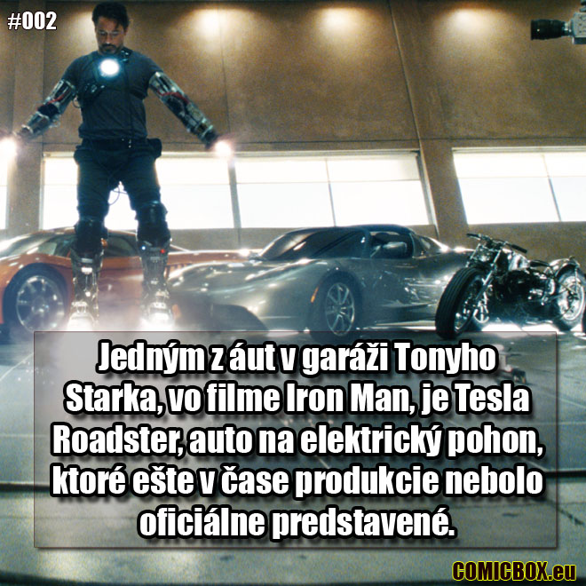 002 – Tesla Roadster vo filme Iron Man