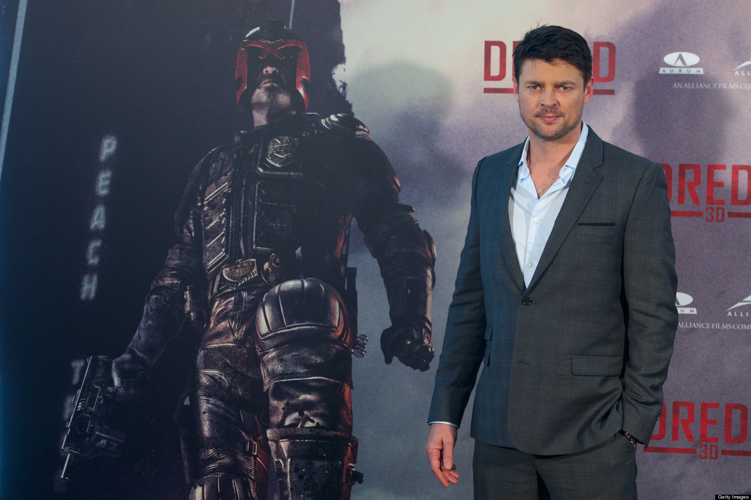 "MADRID, SPAIN - SEPTEMBER 03:  Actor Karl Urban attends ""Dredd"" photocall at Hotel ME on September 3, 2012 in Madrid, Spain. (Photo by Carlos Alvarez/Getty Images)"