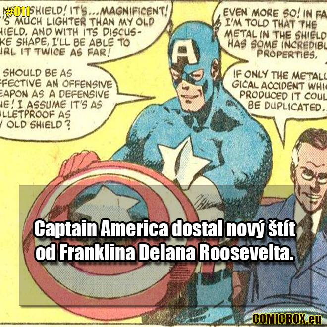 Kapitán Amerika dostal svoj štít od prezidenta Roosevelta